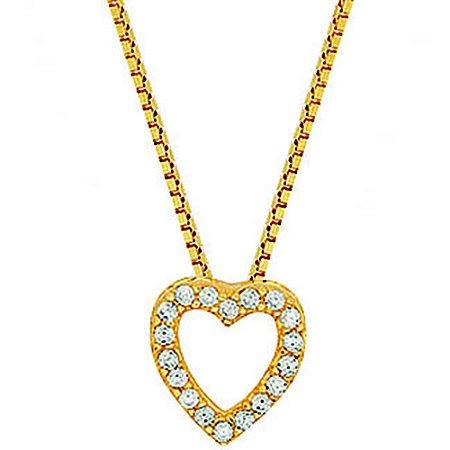 Pingente Ouro Coração Zirconia