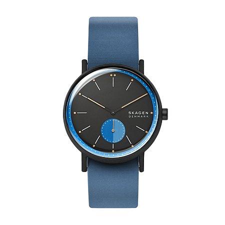 Relógio Skagen Pulseira Couro Azul
