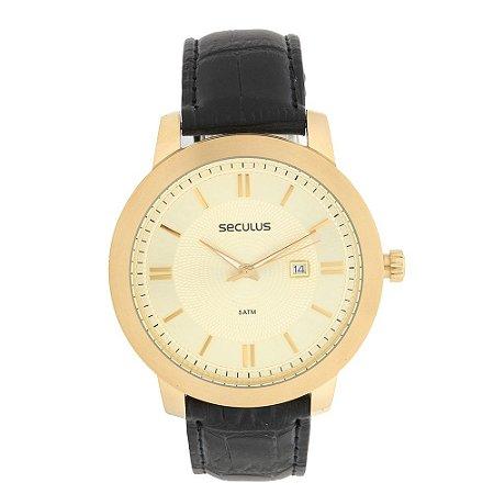Relógio Seculus Pulseira Couro
