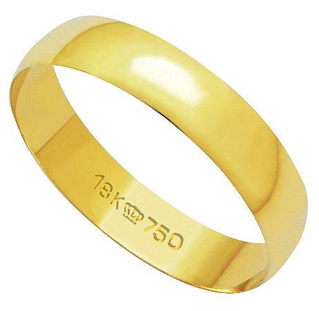 Aliança de Ouro 18K A410