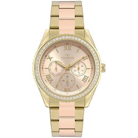 Relógio Technos Feminino Dourado e Rosê