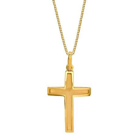 Pingente Ouro Cruz S/Corrente