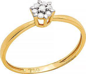 Anel Ouro Chuveiro Diamantes