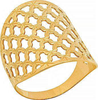 Anel Ouro Quadriculado