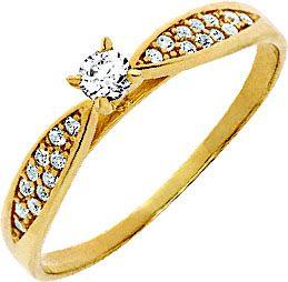 Anel Ouro Solitário Diamante 10 pontos