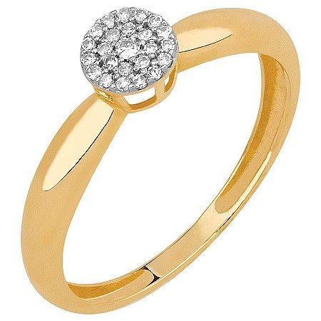 Anel Ouro Chuveiro Diamante