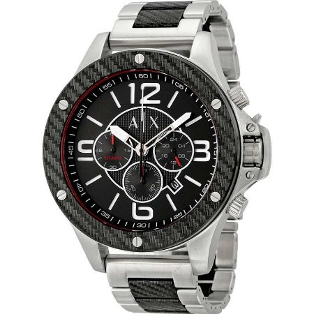 Relógio Armani Prata com Preto