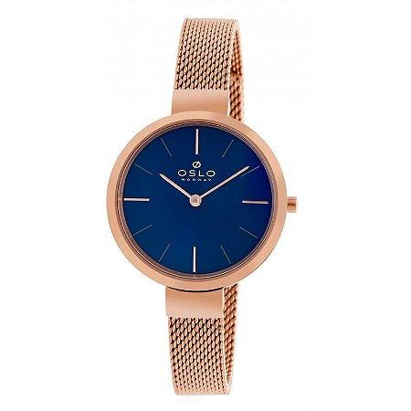Relógio Oslo Mostrador Azul