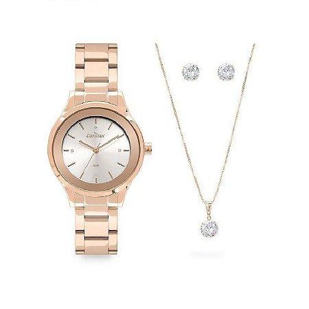 Relógio Condor Dourado com Kit