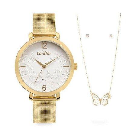 Relógio Condor Dourado Kit