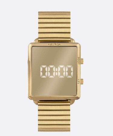 Relógio Euro Dourado Digital