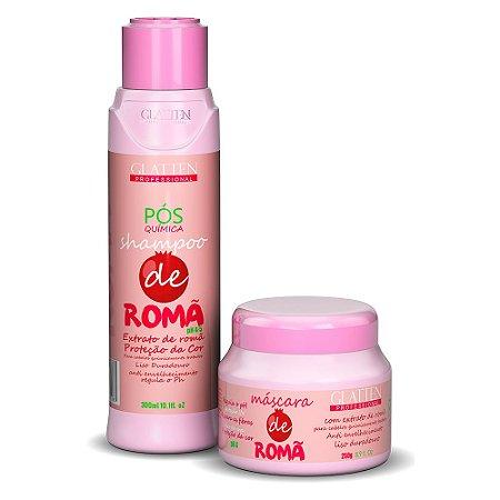 Shampoo, Máscara Capilar Pós Progressiva e Quimica de Romã para cabelos tingidos