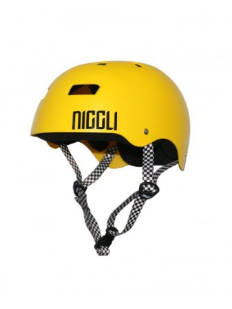 Capacete Niggli Pads Iron Profissional - Amarelo Fosco