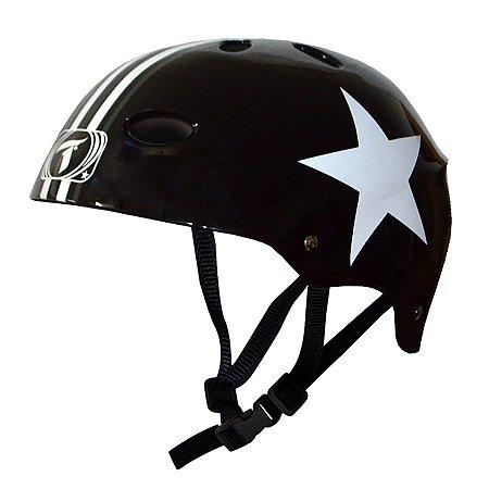 Capacete Esportivo Profissional Traxart Black Star