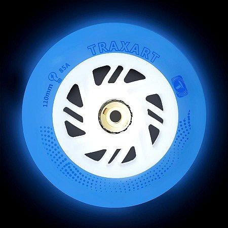 3 Rodas Traxart Inline com LED 110mm / 85A - Led Azul