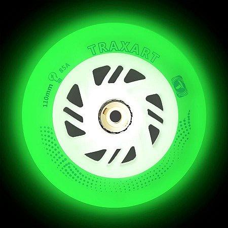 3 Rodas Traxart Inline com LED 110mm / 85A - Led Verde