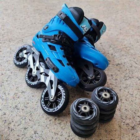 Patins Hd inline Skull com base Hibrida com rodas extras / semi-novo / 40 BR (Loja SP)