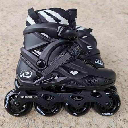 Patins HD inline X com base/rodas Seba E3 - 36 BR (Loja SP)