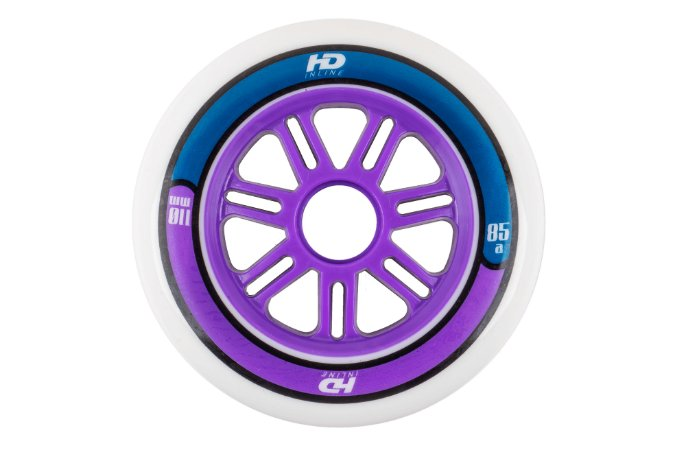 Rodas HD Inline Fun Purple/Blue 110mm - 6 rodas