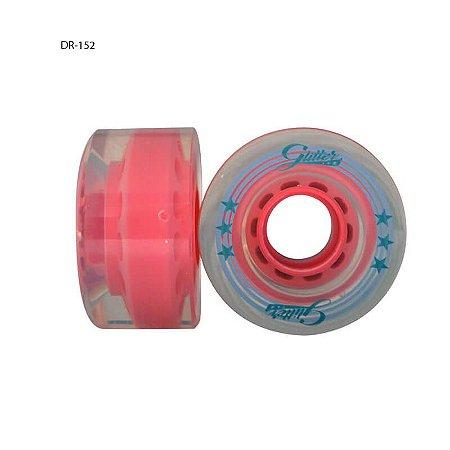Rodas Traxart Glitter Para patins Tradicional Quad - Cores - 4 rodas