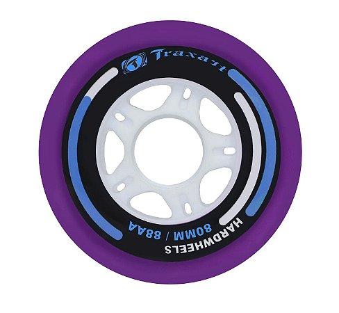 Rodas Traxart Hardwheels 80mm/88A - Roxo - 4 rodas