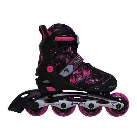 Patins Traxart Sport Fine - Rosa Pink Tamanho Ajustável