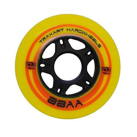 4 Rodas Traxart Hardwheels 76mm/88A - Amarelo