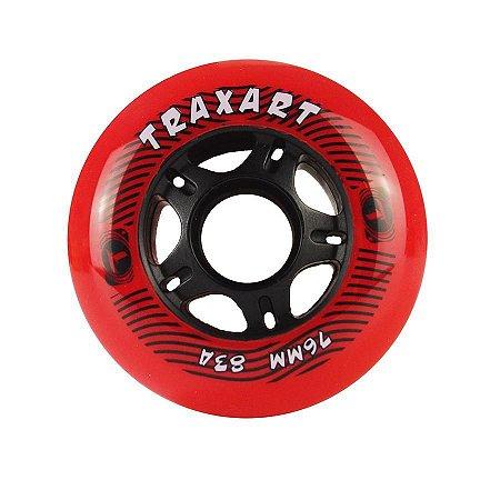 Rodas Traxart TXT 76mm - dureza 83A - cores - 4 Rodas