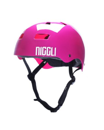 Capacete Niggli Pads Iron Pro Light - Rosa