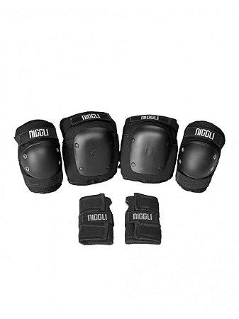 Kit De Proteção Completo Niggli Pads Pro - Tam P - Infantil 4 a 8 anos