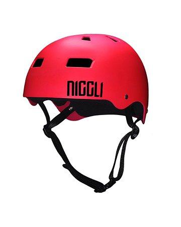 Capacete Niggli Pads Iron Profissional - Fosco Pink Neon