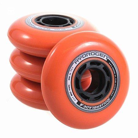 Rodas Rollerblade Hydrogen 80mm 85a Laranja - 8 rodas