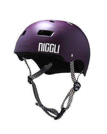 Capacete Niggli Pads Iron Profissional - Roxo Fosco