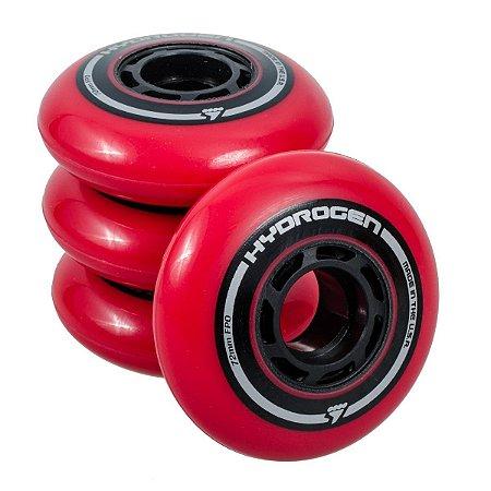 Rodas Rollerblade Hydrogen 76mm 85a Vermelha - 4 rodas