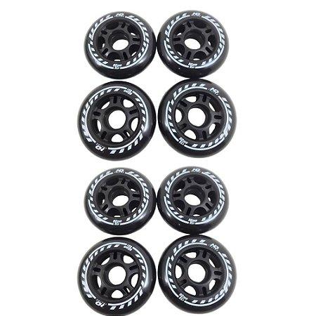 Rodas HD Evolution 80mm - 8 rodas