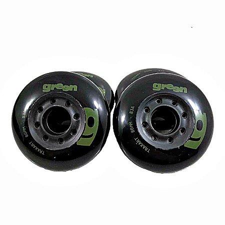 Rodas Green Traxart 80mm - 4 rodas