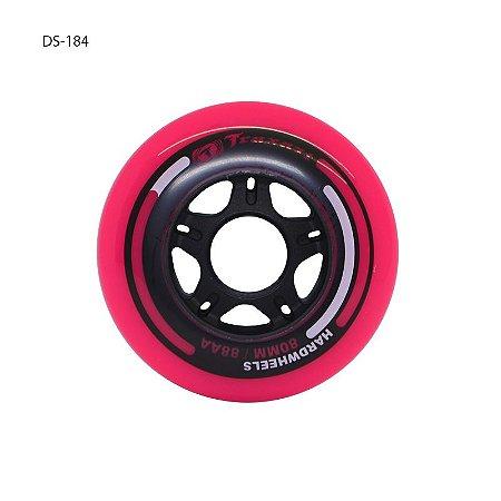 Rodas Traxart Hardwheels 80mm/88A - Rosa - 4 rodas