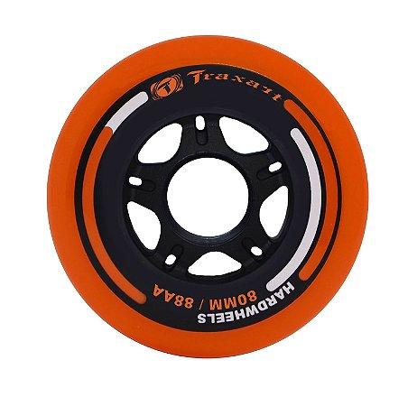 Rodas Traxart Hardwheels 80mm/88A - Laranja - 4 rodas