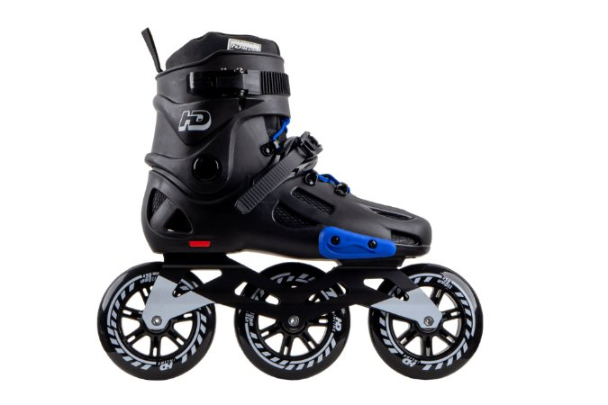 Patins HD Inline Evolution Black/Blue - Urban Freestyle rodas 110mm