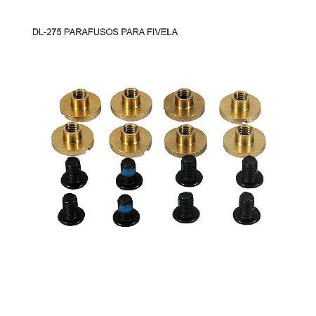 Parafusos para fivela/presilha do patins (8 unid)