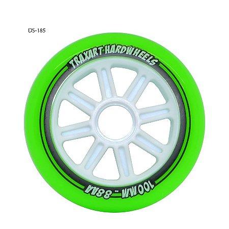 4 Rodas Traxart Hardwheels 100mm (88a) / Verde