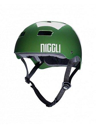 Capacete Niggli Pads Iron Profissional- Verde Light