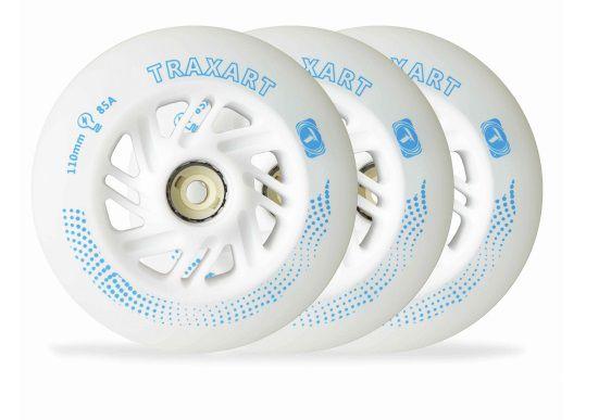 3 Rodas Traxart Inline com LED 110mm/85A - Branco