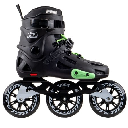 Patins HD Inline Evolution Black/Green - Urban Freestyle rodas 110mm