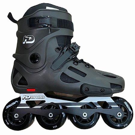 Patins Evolution Custom HD cinza / com rodas cinzas