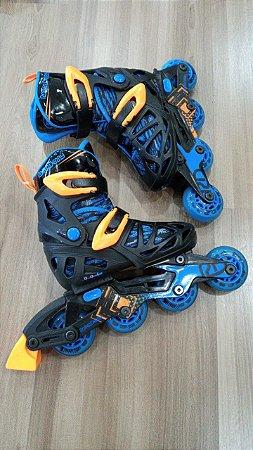Patins ajustável infantil Roller Derby (semi-novo)