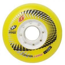 4 rodas HYPER CONCRETE + G YELLOW 80mm  (amarela)