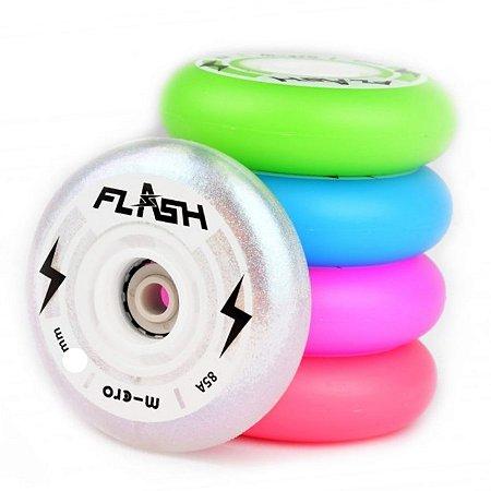 4 Rodas Micro Led Flash 76mm / 85a - CORES
