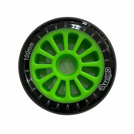 6 Rodas Creme 100mm - Preta/Verde