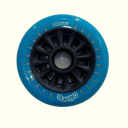 6 Rodas Creme 100mm - Azul